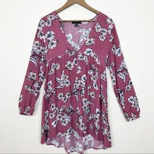 3/$30 Forever 21 Floral Long Sleeve Dress 173